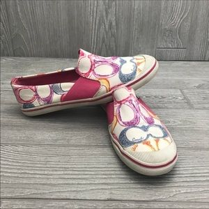 Coach colorful kaycee flats loafers